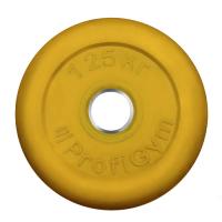 Диск «PROFIGYM» (d=26мм) обрезиненный 1,25 -25 кг, цветной Powergym
