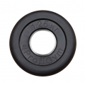 Диск «PROFIGYM» (d=51мм) обрезиненный 1,25-25 кг, черный Powergym