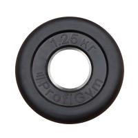 Диск «PROFIGYM» (d=26мм) обрезиненный 1,25-25 кг, черный Powergym