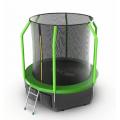 Батут Evo fitnes Cosmo 8 ft с внутренней сеткой и лестницей