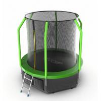 Батут Evo fitnes Cosmo 6 ft с внутренней сеткой и лестницей