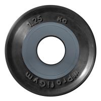 Диск «PROFIGYM» олимпийский (d=51мм) обрезиненный 1,25-25 кг, черный Powergym