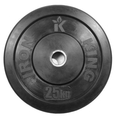 Диск для кроссфита (бампер) черный IronKingCR 202 (5-25кг)