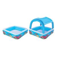 Детский бассейн с надувным съемным навесом от солнца, 147х147х122 см, 265 л 52192 Bestway