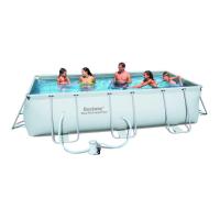 Каркасный бассейн Power Steel 404х201х100 см, с фильтром насосом 56251 Bestway