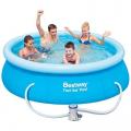 Бассейн с надувным бортом с фильтр-насосом 57268 Bestway