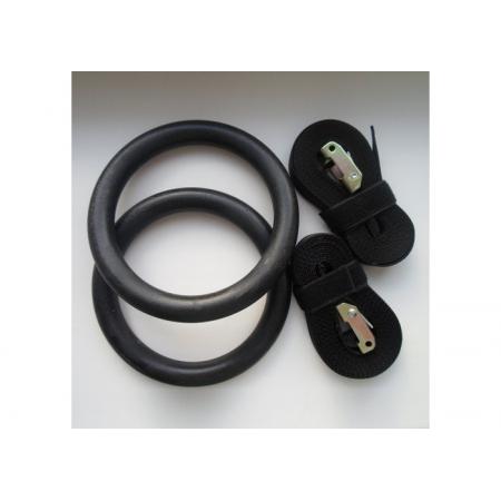 Кольца гимнастические пластиковые на стропе премиум
