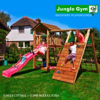 Детские городки Jungle Cottage + Climb Module X'tra