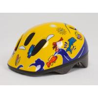 Шлем детский желто-синий с дельфинами Moove&fun