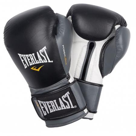 Перчатки тренировочные Everlast  POWERLOCK (Черно/Серый)