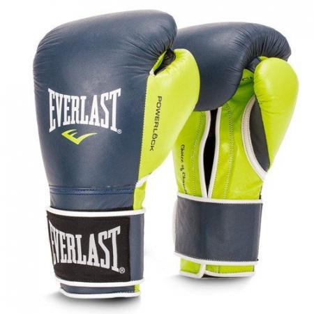 Перчатки тренировочные Everlast  POWERLOCK (Синий/Зеленый)