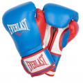 Перчатки тренировочные Everlast  Powerlock PU (Синий/Красный)