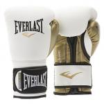 Перчатки тренировочные Everlast  Powerlock PU (Белый/Золотой)
