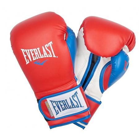 Перчатки тренировочные Everlast  Powerlock PU (Красный/Синий)