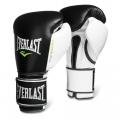 Перчатки тренировочные Everlast  Powerlock PU (Черный/Белый)