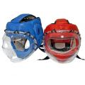 Шлем для единоборств с прозрачной маской КРИСТАЛЛ-4 иск. кожа и кожа Ш32LИКЛ