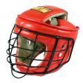 Шлем с маской ТИТАН-2  для Армейского Рукопашного Боя кожа и иск.замша Ш44КВ