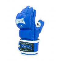 Перчатки ММА Reyvel, кожзам, синий