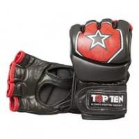 Перчатки для смешанных единоборств TOP TEN MMA OCTAGON Fighting Arsenal PU 2312