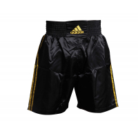 Шорты боксерские ADIDAS Multi Boxing Shorts черно-золотые
