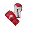 Профессиональные боксёрские перчатки Adidas Glory на шнуровке. Материал: воловья кожа