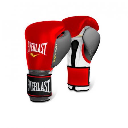 Перчатки тренировочные Everlast  POWERLOCK (Красный/Серый)