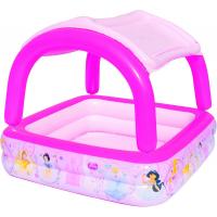 Надувной бассейн с тентом от солнца Bestway 91057 Disney Princess 147х147х122 см, 265 л