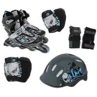 PW-117С Набор: коньки ролик, защита, шлем р.26-37
