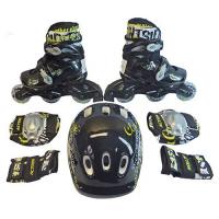 PW-120B Набор: коньки ролик, защита, шлем р. 31-38