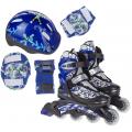 PW-780 Набор: коньки ролик, защита, шлем р.26-37