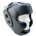 Шлем боксерский Excalibur 725 Black Буйволиная кожа