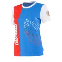 Футболка короткий рукав FORWARD женская (голубой/белый)