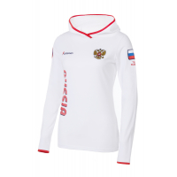 Футболка длинный рукав FORWARD женская (Белый/Красный)