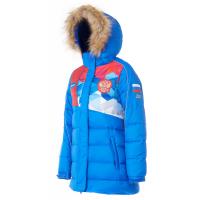 Куртка пуховая FORWARD женская (Голубой/Красный)