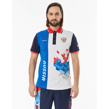 Рубашка поло FORWARD мужская (Синий/Белый)