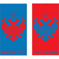 Комплект полотенец FORWARD (синий/красный)