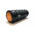 Цилиндр массажный 33х14 см черный двойной FT-DOUBLE-ROLL Original Fittools