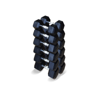 Набор гексагональных гантелей 6 пар от 12,5 до 25 кг Fittools