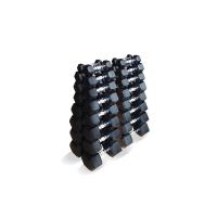Набор гексагональных гантелей 16 пар от 1 до 25 кг Fittools