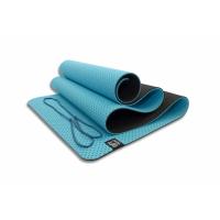 Мат для йоги 6 мм двухслойный перфорированный FT-YGM6-3DT-SKYBLUE Original Fittools