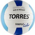 Мяч волейбольный любительский TORRES Simple Color р.5