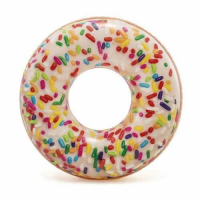 Надувной круг пончик Sprinkle Donut Tube 9+ Intex