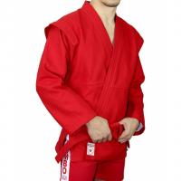 Куртка для самбо модель «ATAKA» плетенная 580 г/м2 с поясом (с подкладкой белого цвета) Крепыш я