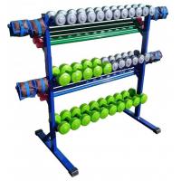 Комплект для силовой гимнастики с подвижным стеллажом