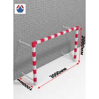 Ворота пристенные гандбол - мини-футбол 3х2х1, стальной, профиль квадратный, 80х80 мм
