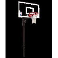 """Баскетбольная стационарная стойка, акрил Spalding 54 """" Gold In-Ground"""
