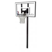 "Баскетбольная стационарная стойка, поликарбонат Spalding 44 "" Silver In-Ground"
