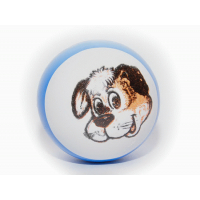 Мячик полый детский резиновый с рисунком 7,5 см 103П Sprinter