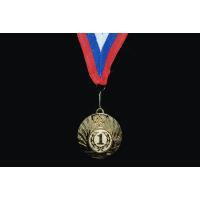 Медаль наградная с лентой, d - 50мм 1501-3 Sprinter