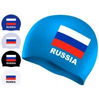 Шапочка для плавания с изображением флага России Sprinter